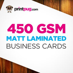 Business Cards - 450gsm Matt Laminated