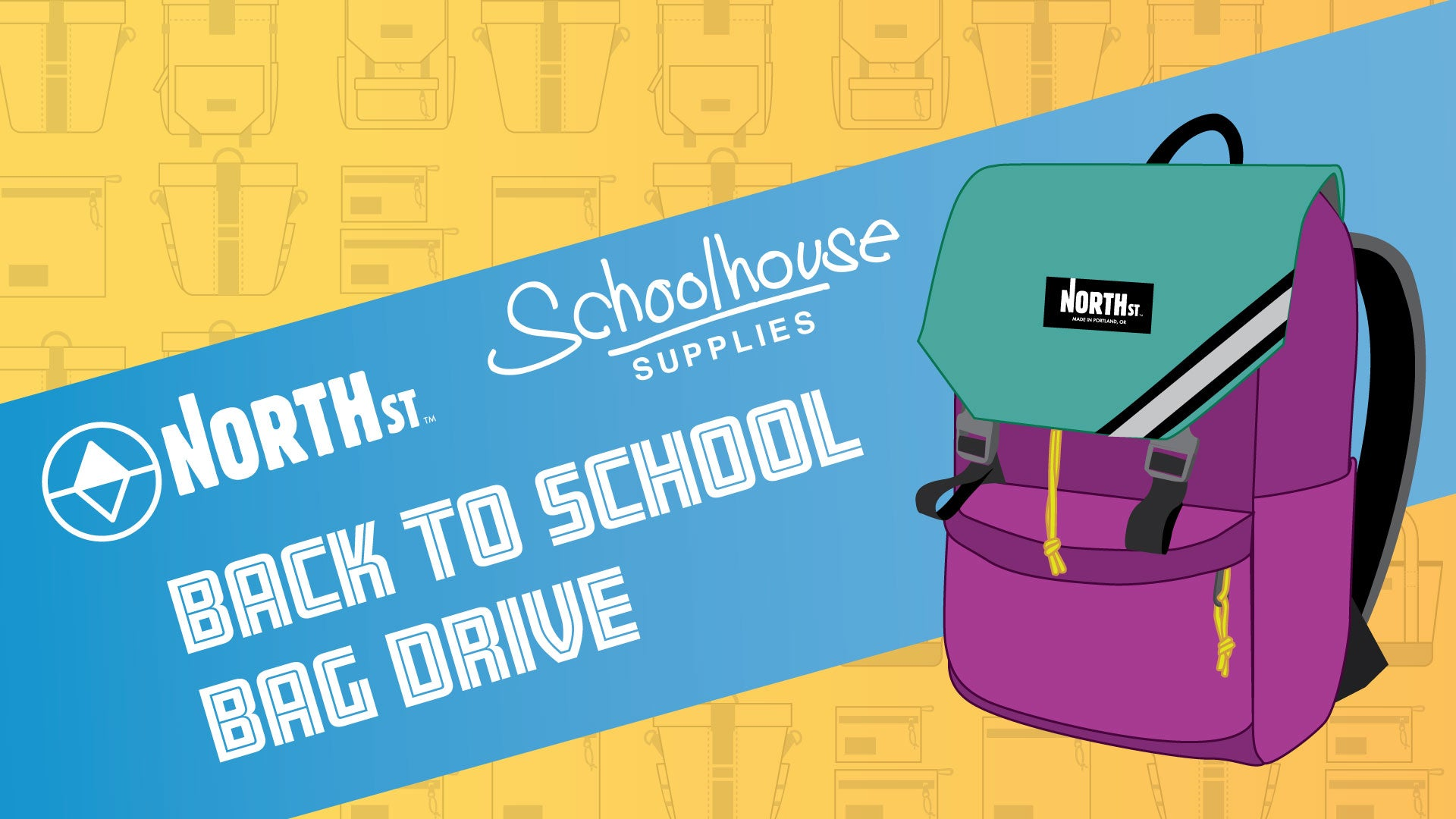North St. // Schoolhouse Supplies Back to School Bag Drive