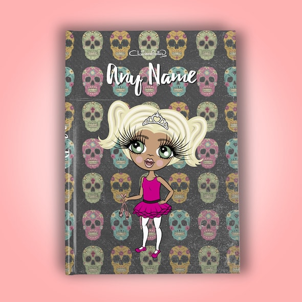 ClaireaBella Girls A5 Hardback Diary - Skulls - Image 1