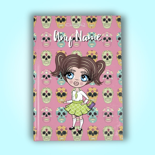 ClaireaBella Girls A5 Hardback Diary - Skulls - Image 9
