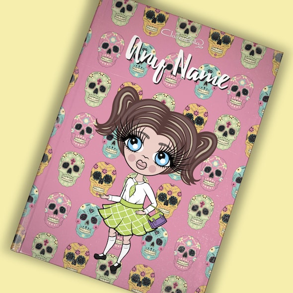 ClaireaBella Girls A5 Hardback Diary - Skulls - Image 8