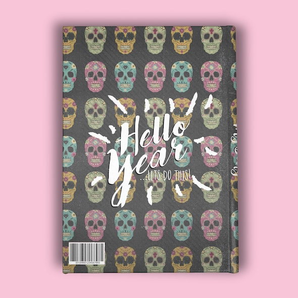 ClaireaBella Girls A5 Hardback Diary - Skulls - Image 7