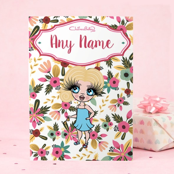 ClaireaBella Girls Greeting Card - Classic Floral - Image 2