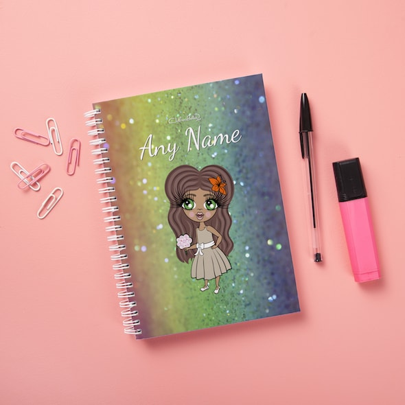 ClaireaBella Girls Hardback Notebook - Glitter Effect - Image 1