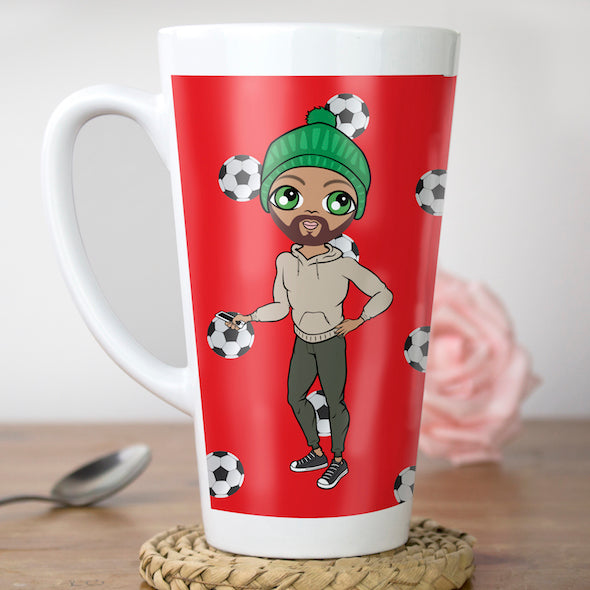 MrCB Football Print Latte Mug - Image 1
