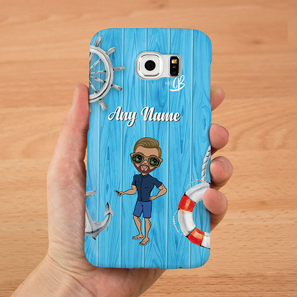 MrCB Nautical Print Personalised Phone Case - Image 1