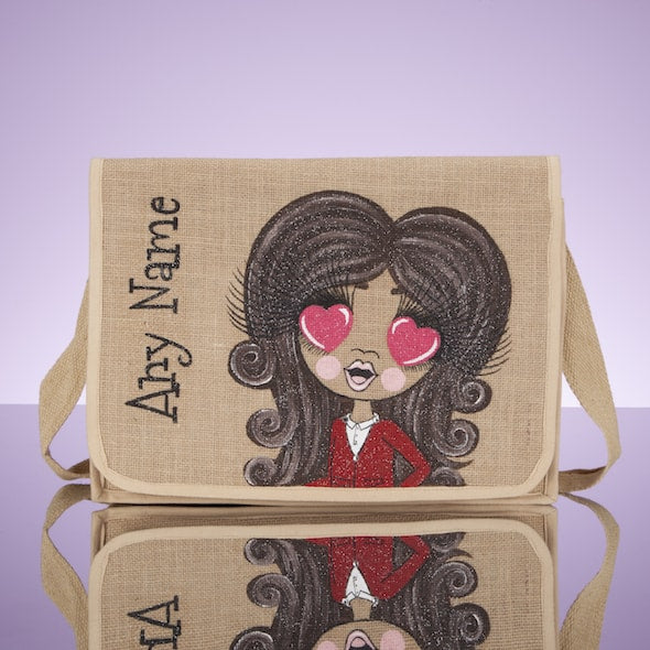 ClaireaBella Girls Jute Satchel - Image 1