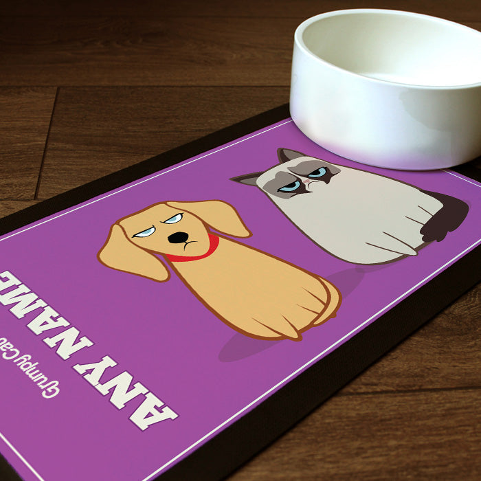 Grumpy Cat Purple Pet Mat