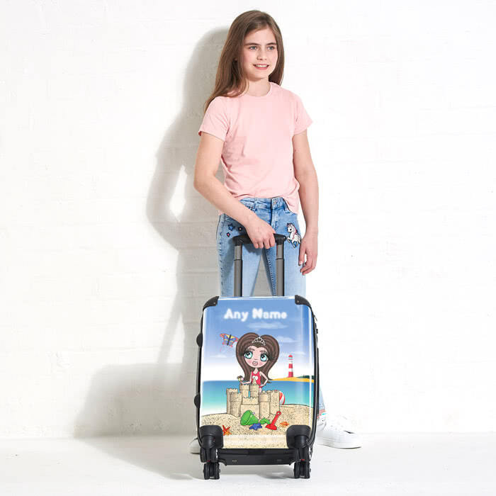 ClaireaBella Girls Sandcastle Fun Suitcase