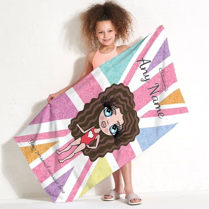 ClaireaBella Girls Union Jack Beach Towel - Image 2
