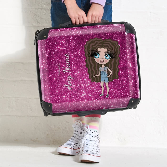 ClaireaBella Girls Glitter Effect Weekend Suitcase - Image 2