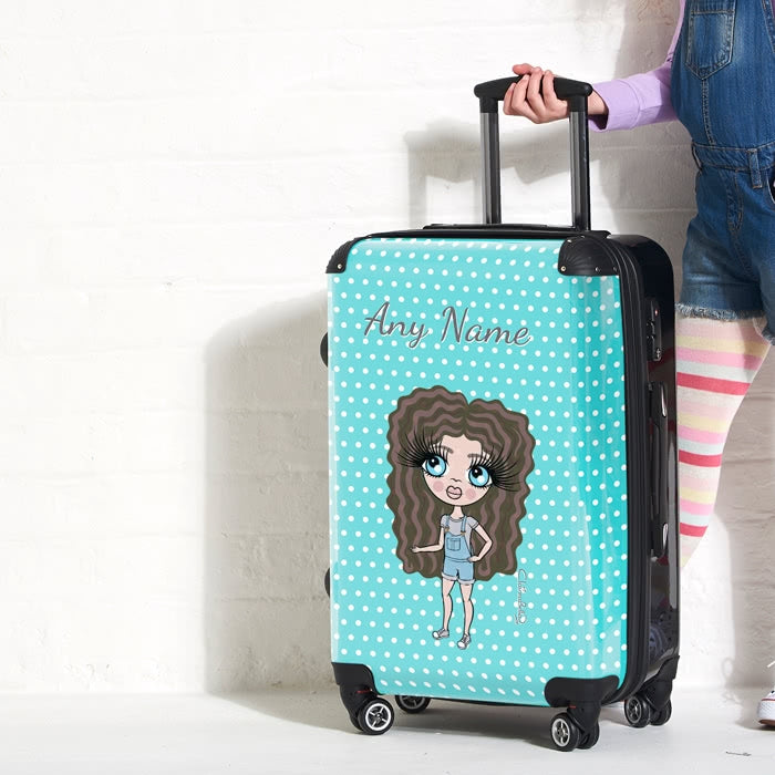 ClaireaBella Girls Polka Dot Suitcase - Image 1