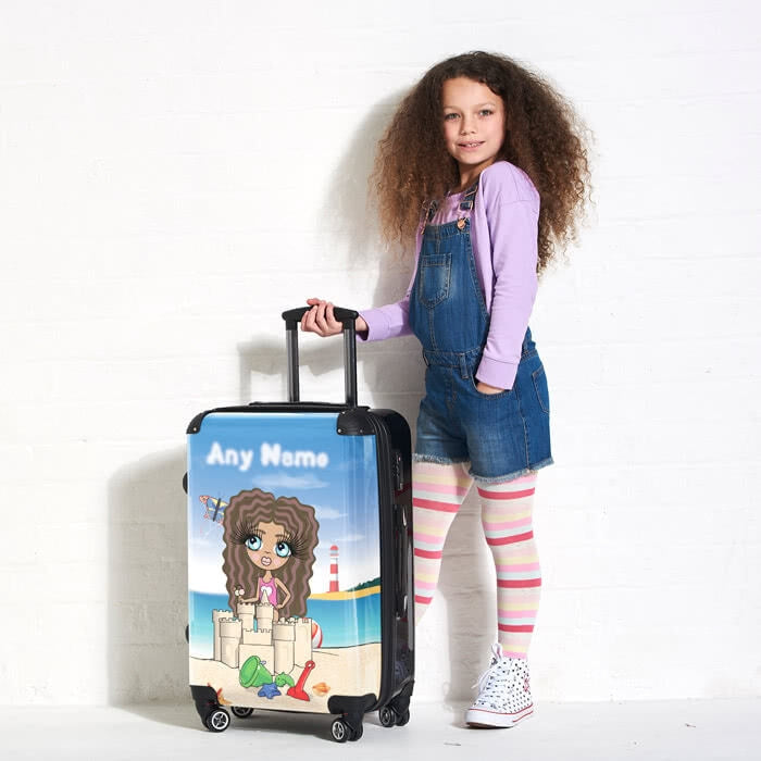 ClaireaBella Girls Sandcastle Fun Suitcase - Image 4