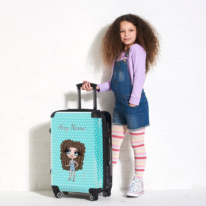 ClaireaBella Girls Polka Dot Suitcase - Image 5