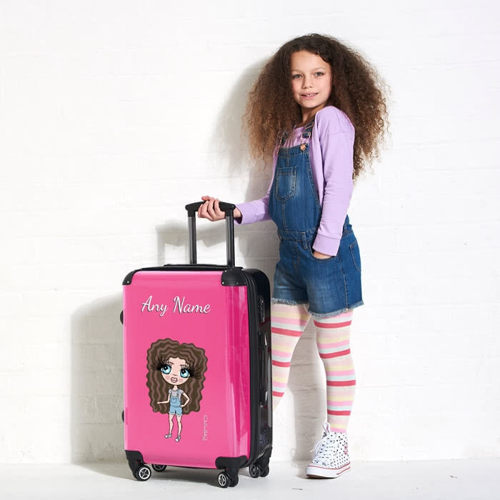 ClaireaBella Girls Hot Pink Suitcase - Image 5