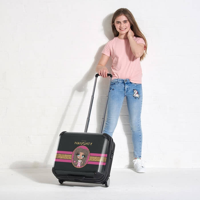 ClaireaBella Girls Slogan Weekend Suitcase - Image 5