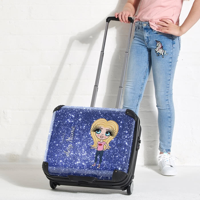 ClaireaBella Girls Glitter Effect Weekend Suitcase - Image 3