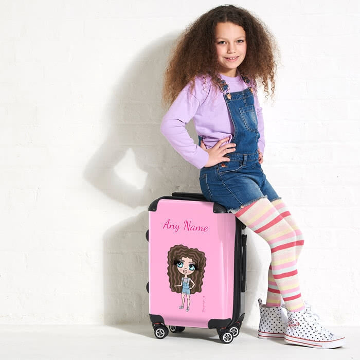 ClaireaBella Girls Pastel Pink Suitcase - Image 6