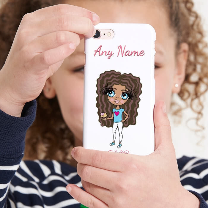 ClaireaBella Girls Personalised White Phone Case - Image 1