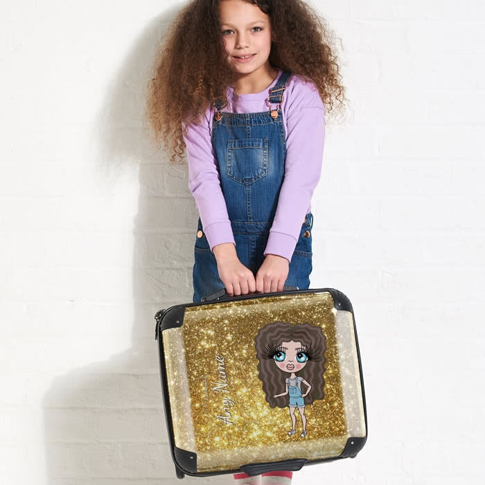 ClaireaBella Girls Glitter Effect Weekend Suitcase - Image 5