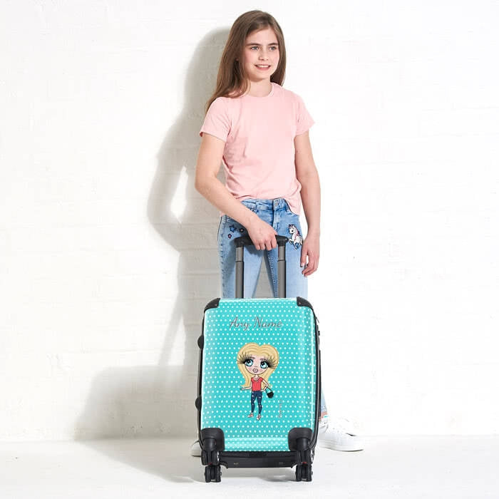 ClaireaBella Girls Polka Dot Suitcase - Image 2