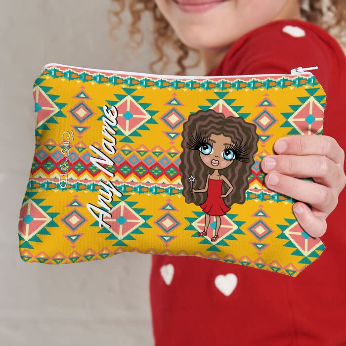 ClaireaBella Girls Aztec Geo Make Up Bag - Image 1
