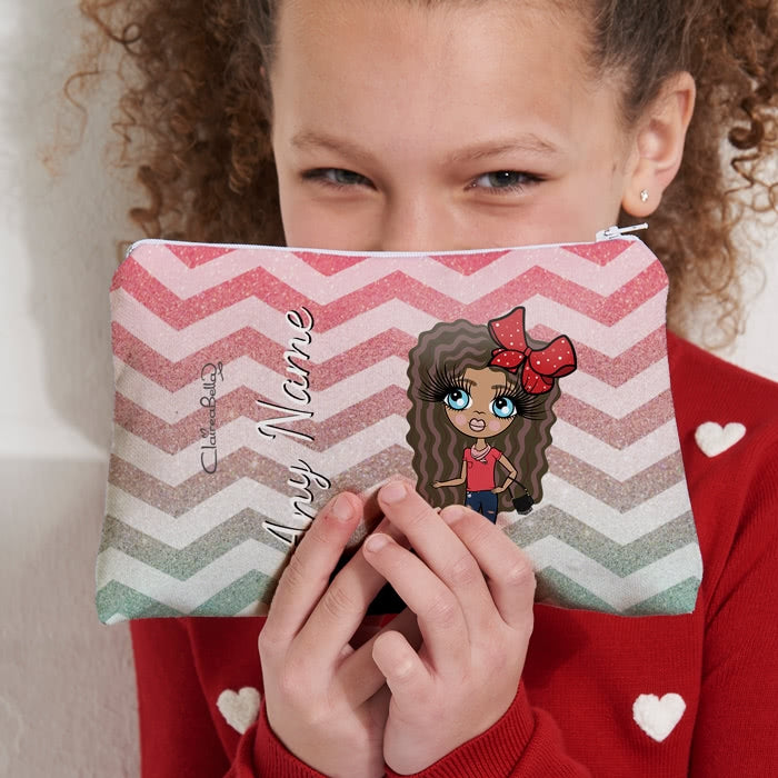 ClaireaBella Girls Zig Zag Sparkle Make Up Bag - Image 4