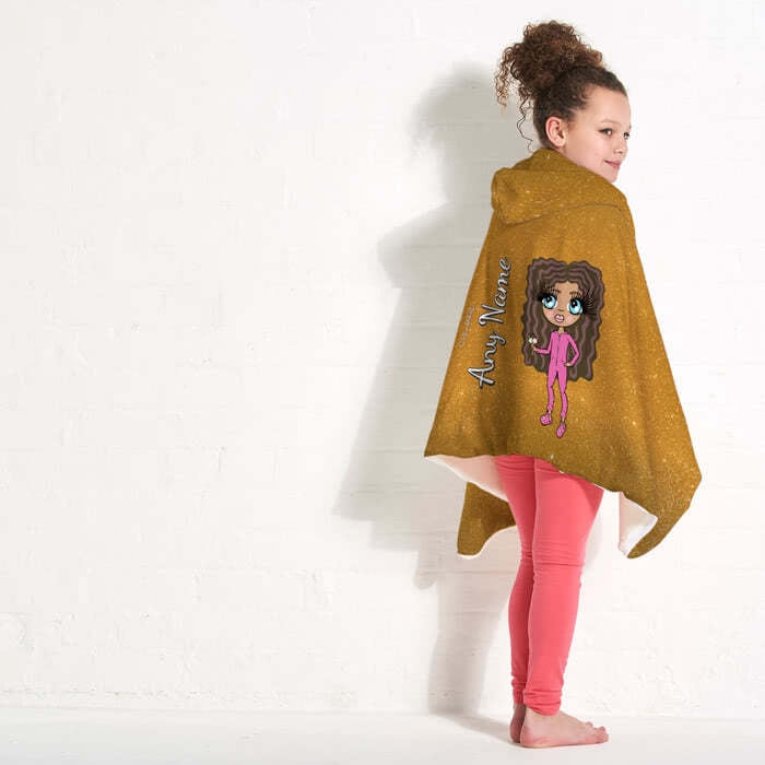 ClaireaBella Girls Glitter Effect Hooded Blanket - Image 5
