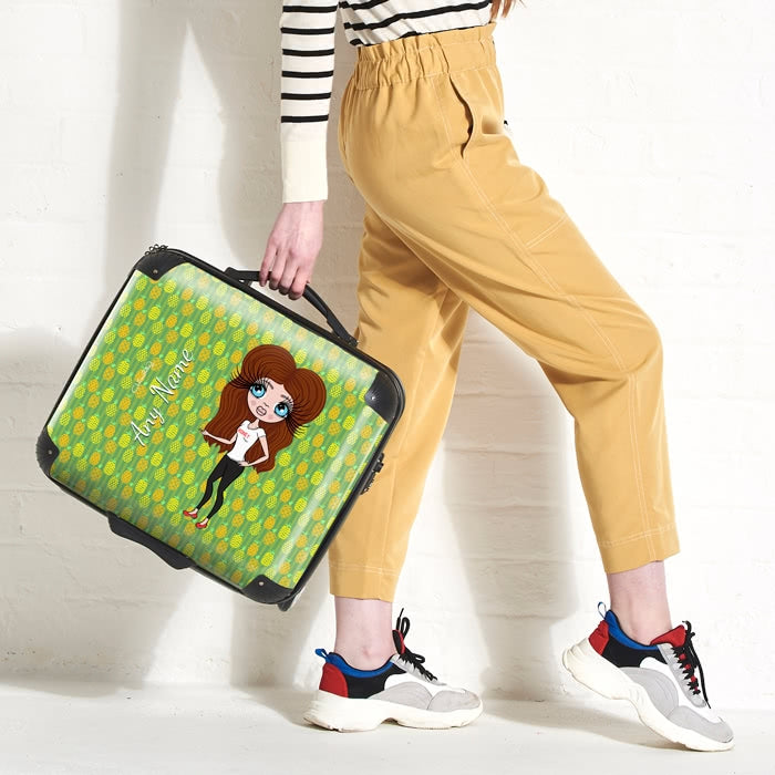 ClaireaBella Pineapple Print Weekend Suitcase - Image 1
