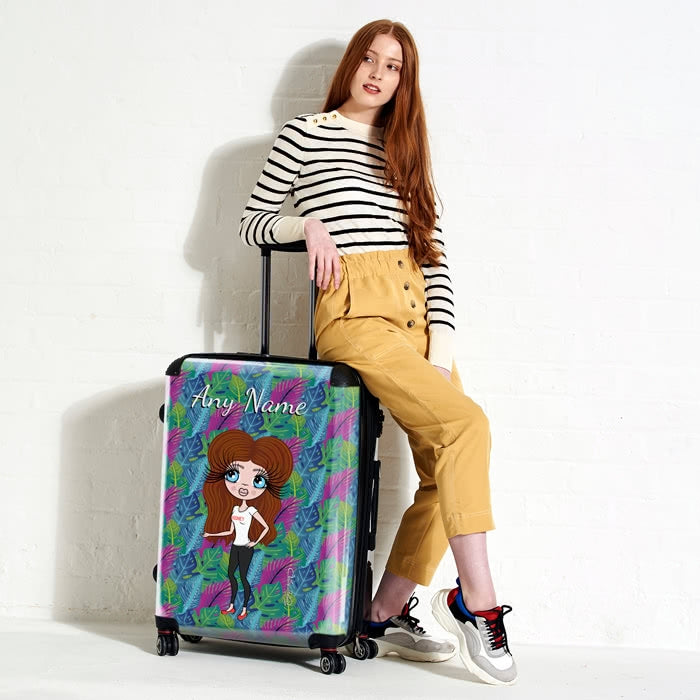 ClaireaBella Neon Leaf Suitcase - Image 5