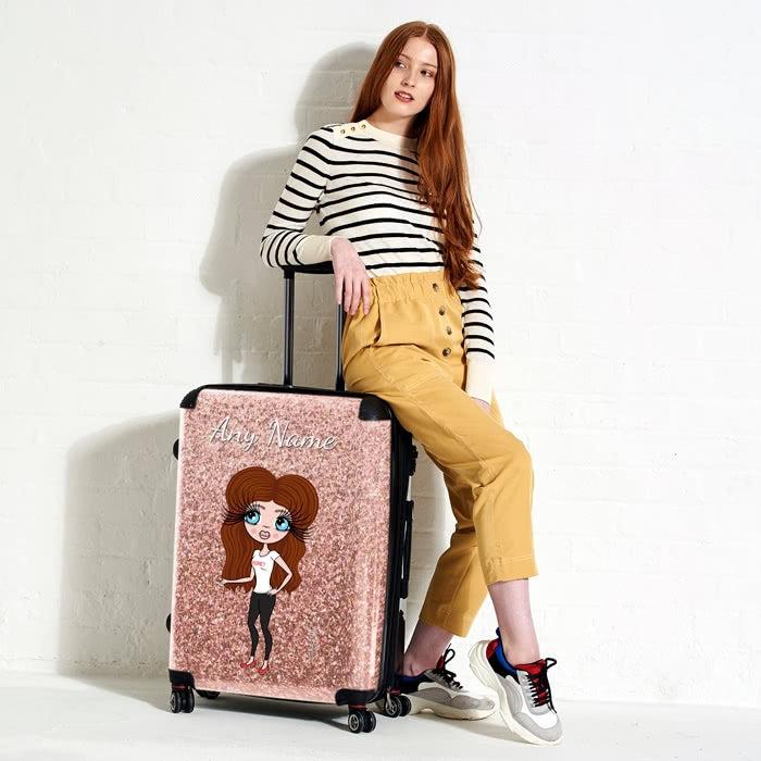ClaireaBella Glitter Effect Suitcase - Image 2