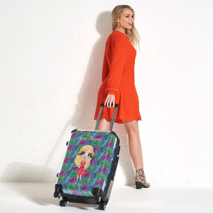 ClaireaBella Neon Leaf Suitcase - Image 6