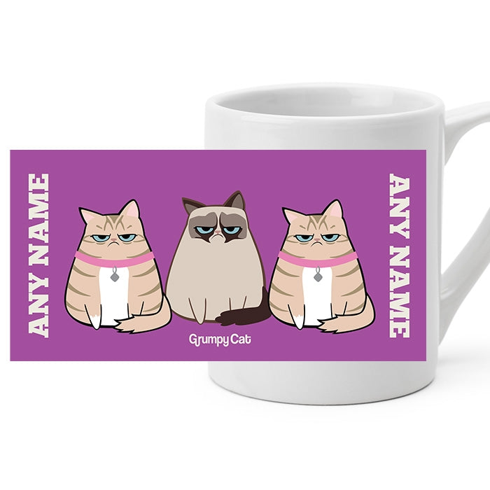 Grumpy Cat Purple Mug - Image 1