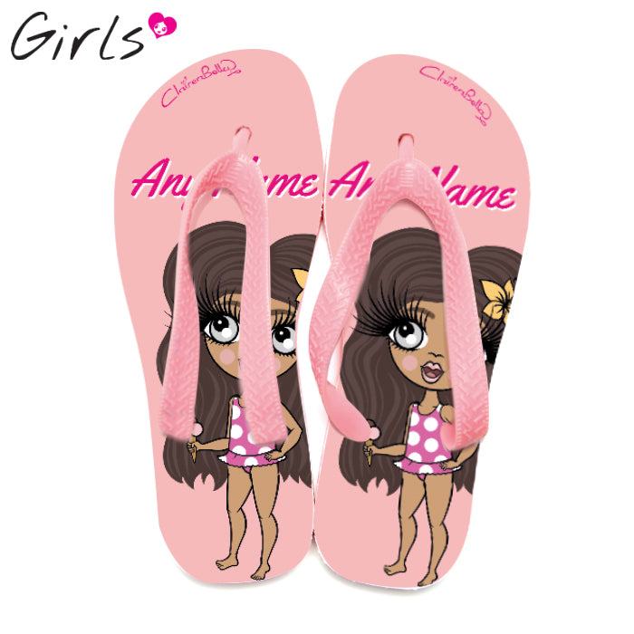 ClaireaBella Girls Close Up Flip Flops