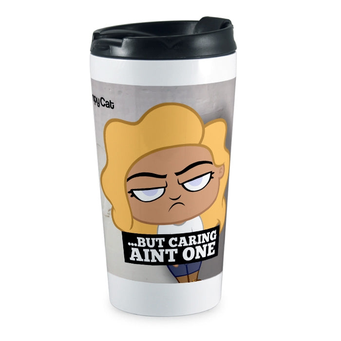 Grumpy Cat 99 Problems Travel Mug - Image 1