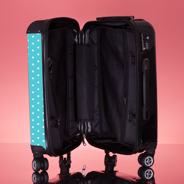 ClaireaBella Girls Polka Dot Suitcase - Image 9