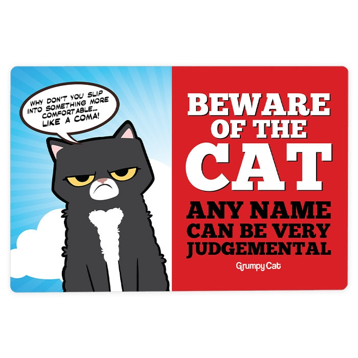 Grumpy Cat Judgemental House Sign - Image 1