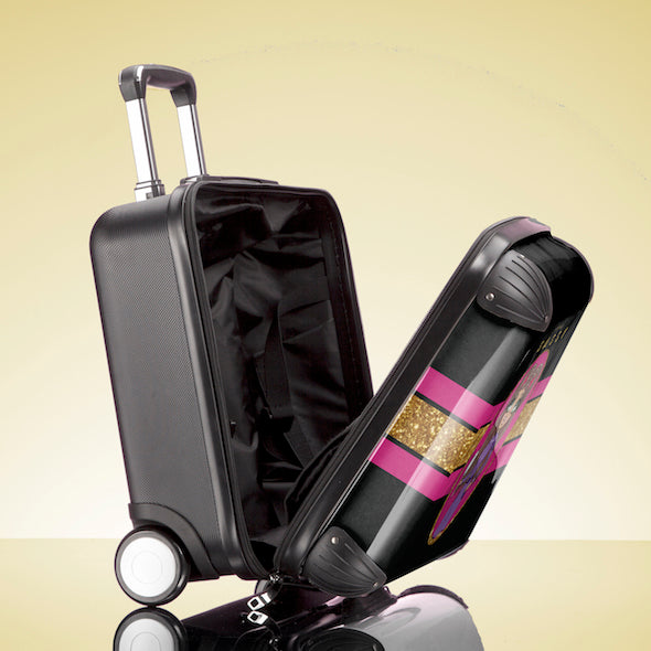 ClaireaBella Girls Slogan Weekend Suitcase - Image 6