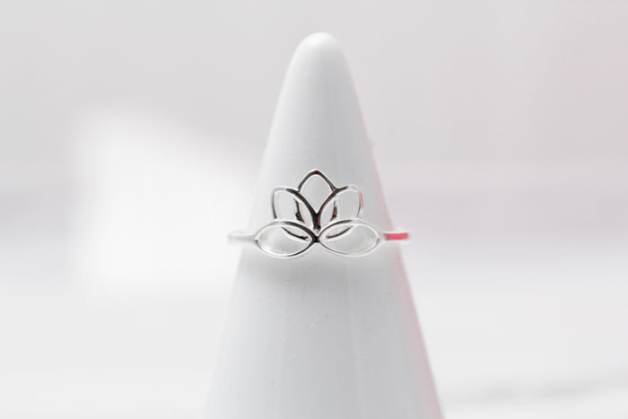 Sterling Lotus Ring