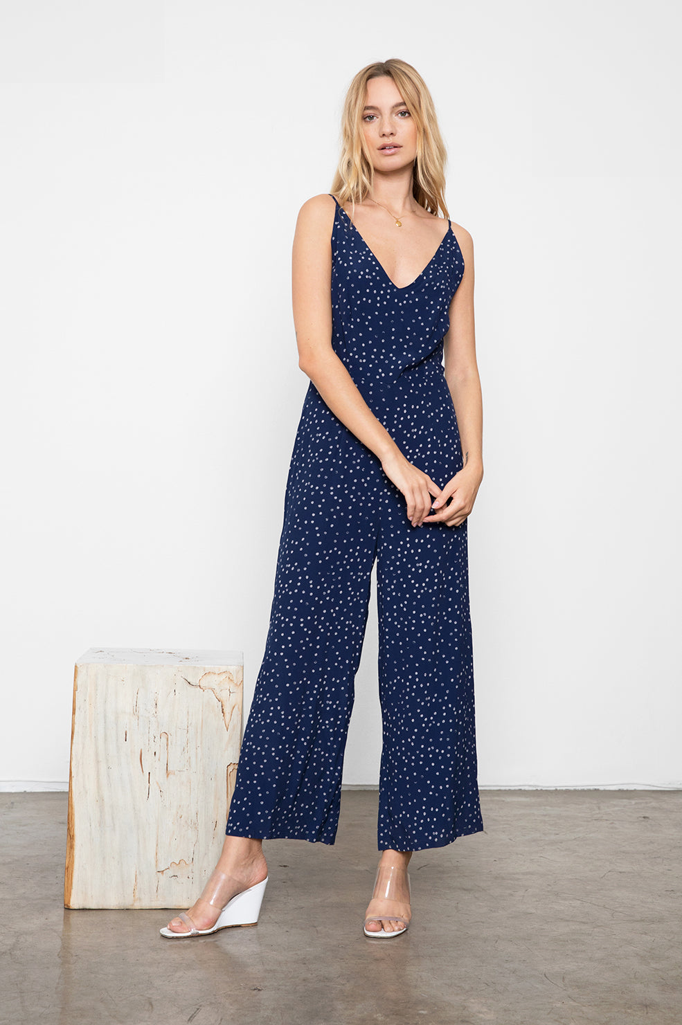 GABRIELLE - NAVY SPECKLED DOT