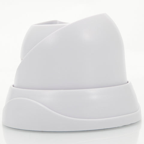 Plastic Bread Array Conch-shaped Security Camera Housing White