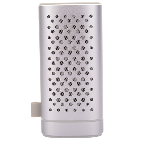YM-372 2-in-1 Portable 4400mAh Plug-in Card Wireless Bluetooth Speaker & Power Bank Silver