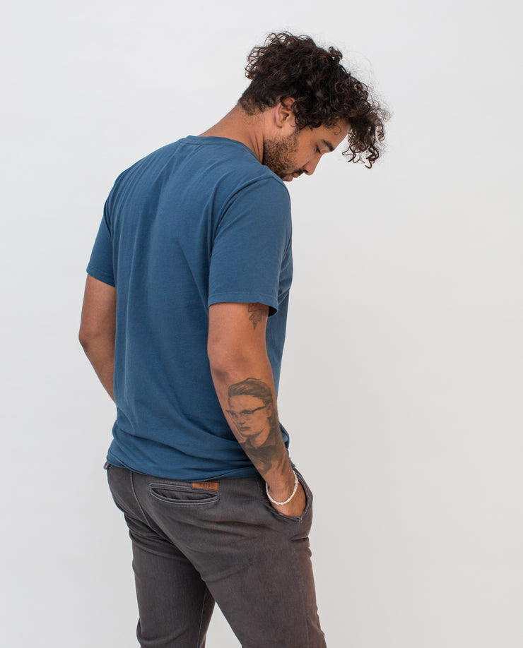 Men's Essential Tee (Washed Indigo)