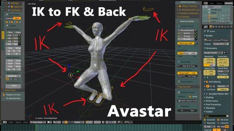 Animation with Avastar - IK to FK & Back - Tutorial