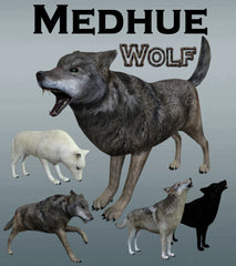Medhue 3D Wolf