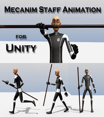 Medhue Unity3D Mecanim Staff Animation