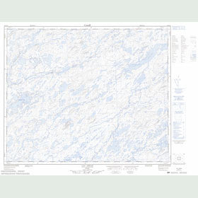 Canadian Topo Map - Lac Léran - Map 023D12