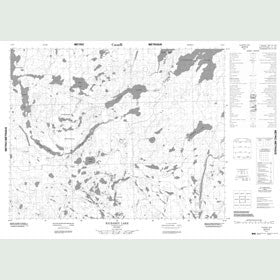 Canadian Topo Map - Kilbarry Lake - Map 052P02