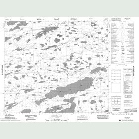 Canadian Topo Map - High Hill Lake - Map 053M12