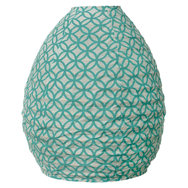 Hanging Lampshade - Rings Turquoise Beehive